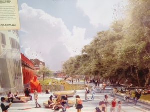 An artist's impression of the Goods Line park at Ultimo in Sydney.