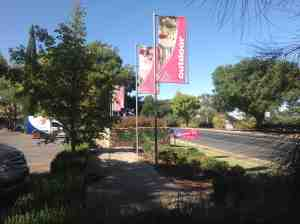 Barossa Garden Centre at Nuriootpa in country SA is a welcoming site along the road.